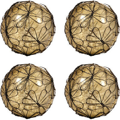 Pomeroy 015113/S4 Camile Antique Wheat Artifact and Rustic Spheres