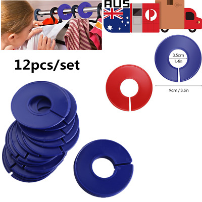 12pcs Round Clothing Size Dividers Clothes Stores Hangers Ring Blank Rack Tags