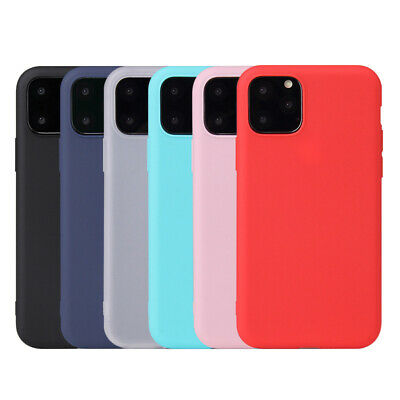 For iPhone 11 Pro Max 2019 XS Max Matte Slim Soft Silicone Case Shockproof Cover