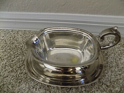 Vintage  Kent Silversmith, Silver Plated Gravy Boat with Plate