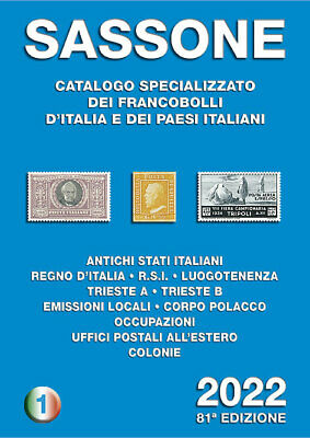 Catalogo filatelico Sassone 2020 - Volume 1
