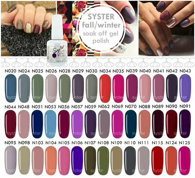 Syster 42 Colours 15ml Fall / Winter Nail Art Soak Off UV LED Gel Polish