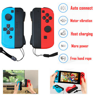 Brand New Joy-Con Wireless Controllers Neon (L)Red&(R)Blue for Nintendo Switch
