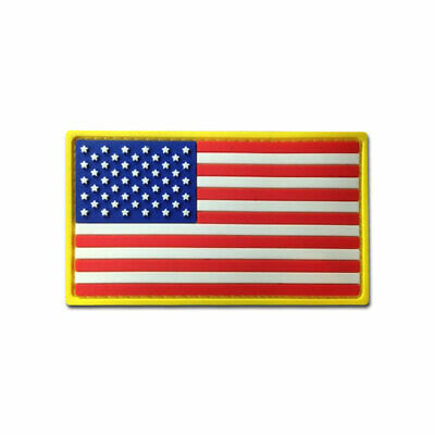 Tactical Combat Military Morale Patch Badge PVC Hook and Loop - USA Flag Color