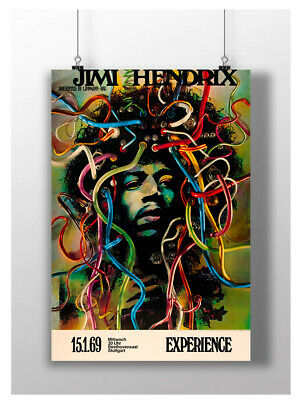 Jimi Hendrix Trippy Poster Music Legend Print Image A3 A4 Size