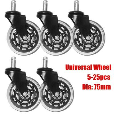 5-25pc Chair Table Caster Wheels Universal Office Rubber Furniture Wheel +Screws