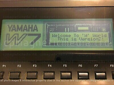 YAMAHA W7 - Version 2 ROMS Latest OS with X3 preset memory and enhancements