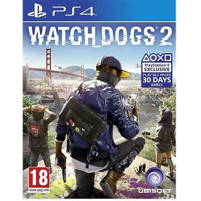 Watch Dogs 2 PS4 Game for PlayStation 4 Watchdogs NEW