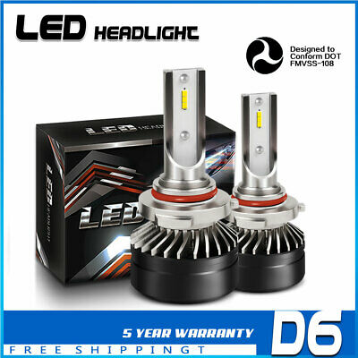 TURBOSII 9006 HB4 DOT 12000LM LED Headlight White 6000K Kits Low Beam Bulb DT69