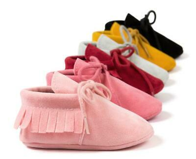 Newborn Baby Boy Girl Crib Shoe Crawling Shoes Toddler PreWalker Nubuck Trainers