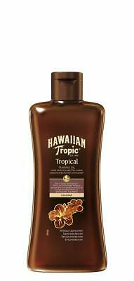 Hawaiian Tropic Tropical Tan Dark Oil 200ml Hypoallergenic Coconut Fragranced
