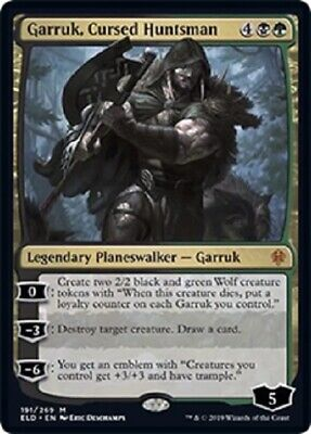Throne of Eldraine MTG 1 Garruk, Cursed Huntsman   Magic Mythic