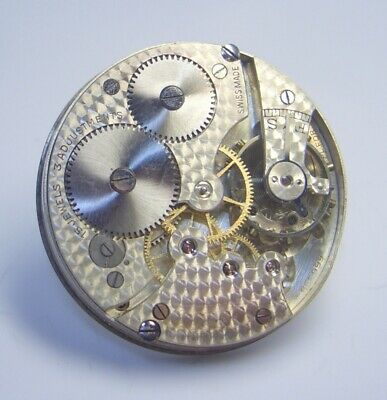 High grade Swiss made Pocket watch movement 15 jewels 3 adjustments lot 303b