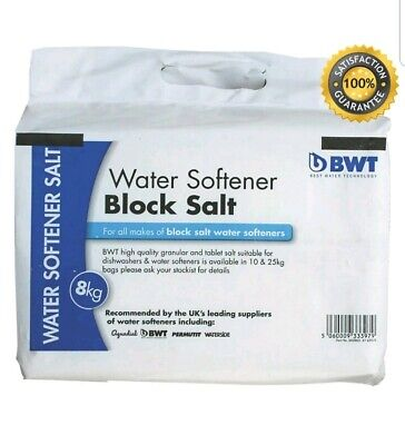 Water Softener Block Salt 8Kg Plumbing Dishwasher High Quality Water Treatment