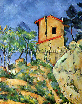 """1963 Vintage CEZANNE /""""THE HOUSE WITH CRACKED WALLS/"""" offset Art Print Lithograph"""
