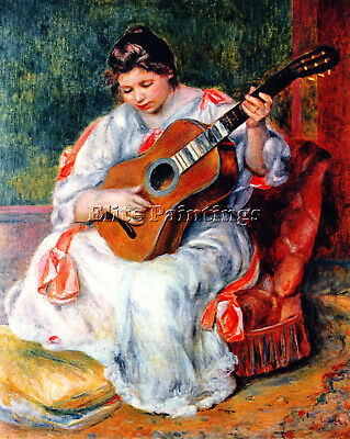 Guitarist By Renoir Artist Painting Reproduction Handmade Oil Canvas Repro Deco