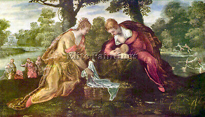 Finding Of Moses By Tintoretto Artist Painting Reproduction Handmade Oil Canvas