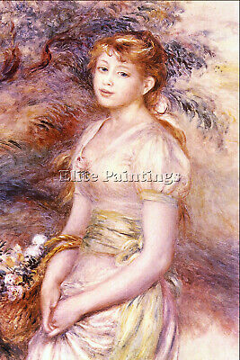 Portrait By Renoir Artist Painting Reproduction Handmade Oil Canvas Repro Art