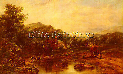 Watts Frederick Waters Mill Stream Among Hills Artist Painting Oil Canvas Repro