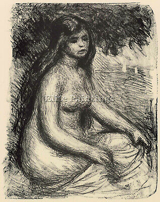 Bather 3 By Renoir Artist Painting Reproduction Handmade Oil Canvas Repro Deco