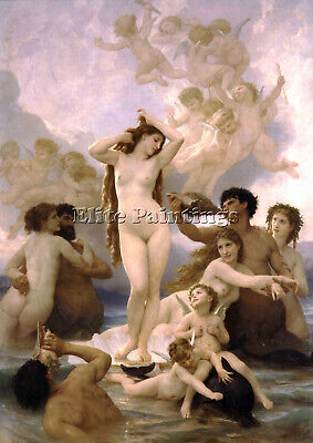 Bouguereau The Birth Of Venus Artist Painting Reproduction Handmade Oil Canvas