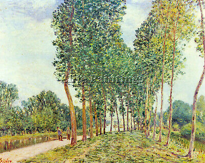 Banks Of The Loing In Moret By Sisley Artist Painting Reproduction Handmade Oil