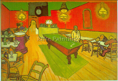 Night Cafe Artist Painting Reproduction Handmade Oil Canvas Repro Wall Art Deco