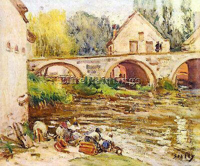 The Laundresses By Moret By Alfred Sisley Artist Painting Oil Canvas Repro Deco