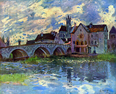 Moret Sur Loing By Sisley Artist Painting Handmade Oil Canvas Repro Art Deco