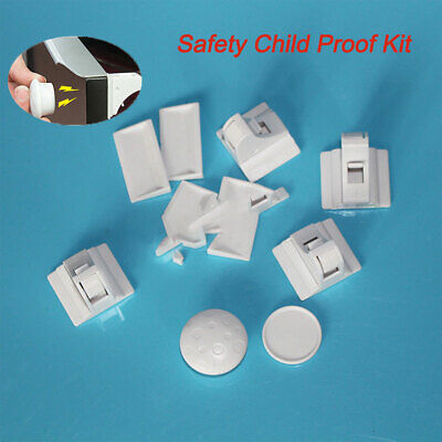10-30Pcs Magnetic Drawer Baby Child Kids Cabinet Cupboard Locks Safely Proofing