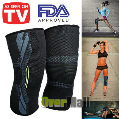 2x Fit Pro Series Compression Knee Sleeve AS SEEN ON TV From United States