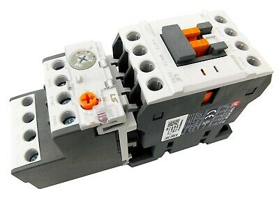 New IEC Motor Starter 120V Coil 3 Pole w//1 NO Aux Contact 0.25-0.4 Amp Overload