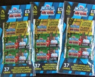 3X Topps Match Attax 2018/19 Trading Cards Multipacks Inc LTD Edition Player