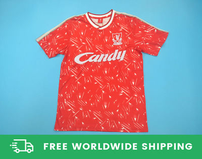 Liverpool 1989-1990 Home Candy Jersey Shirt Dalglish Rush Barnes Molby Size S-XL