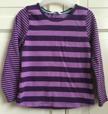 John Lewis Girls Purple Striped Long-Sleeved Top Size 5 Years