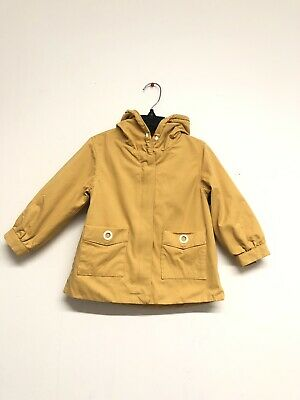 NWOT ZARA Girls POCKET PARKA yellow mustard  2 3 girls fashion 98 cm  FAST SHIP