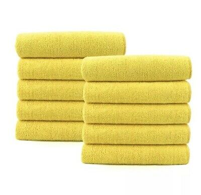 10 x Large Microfibre Cloths Car Valeting Cleaning, Waxing, Detailing, Polishing