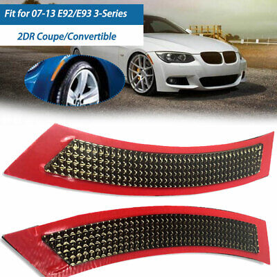 FOR BMW E92//E93 3-SERIES COUPE//CONVERTIBLE 07-13 FRONT BUMPER CRYSTAL REFLECTORS