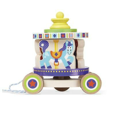 First Play - Carousel Pull Toy - Melissa & Doug Free Shipping!