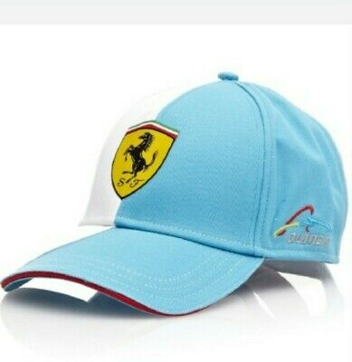 Cap Ferrari Scuderia Fernando Alonso Formula One 1 Team F1  NEW! Blue