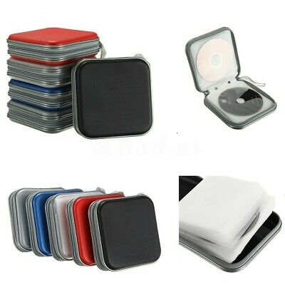 40 Disc Double-side CD DVD Storage Case Organizer Holder Hard Wallet Album US F