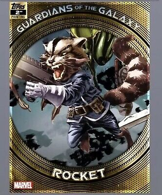 Topps Marvel Collect Trader-Guardians of The Galaxy 2nd Printing: ROCKET digital