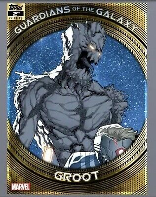 Topps Marvel Collect Trader-Guardians of The Galaxy 2nd Printing: GROOT digital