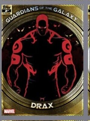 Topps Marvel Collect Trader-Guardians of The Galaxy 2nd Printing: DRAX digital