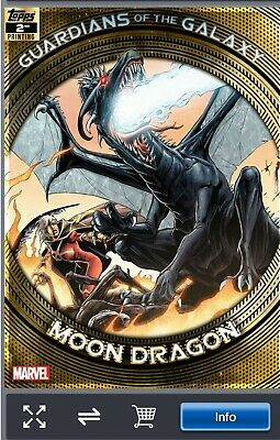 Topps Marvel Collect Trader-Guardians OF Galaxy 2nd Printing:MOON DRAGON digital