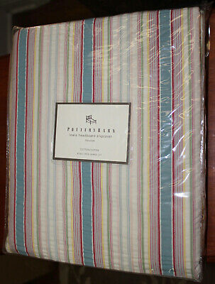 Pottery Barn Lewis Headboard Slipcover~French Stripe~New In Package~Twin Size