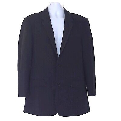 7 DIAMONDS Men's Sz M Blazer Jacket Sport Tweed Modern Casual Navy