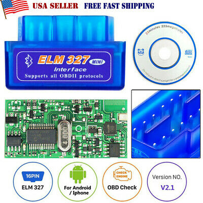 Bluetooth OBD2 Scanner Adapter OBDII Diagnostic Tool TORQUE Android ELM327