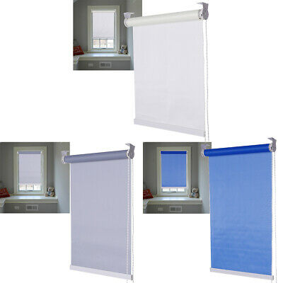 Easy Fit Plain Thermal Blackout Trimmable Roller Blind / Blinds, 150cm