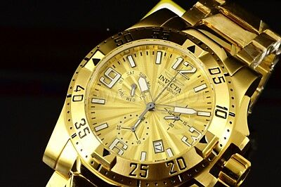 Invicta  Men's Watc 23902IN Excursion Gold Dial Chronograph 18K Gold Plated Band